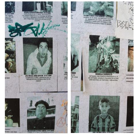 les disparus lors des manifestations au chili